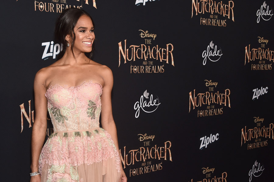 Misty Copeland interview about her role as the Princess Ballerina in The Nutcracker and the Four Realms and diversity in ballet and dance. At the red carpet premiere