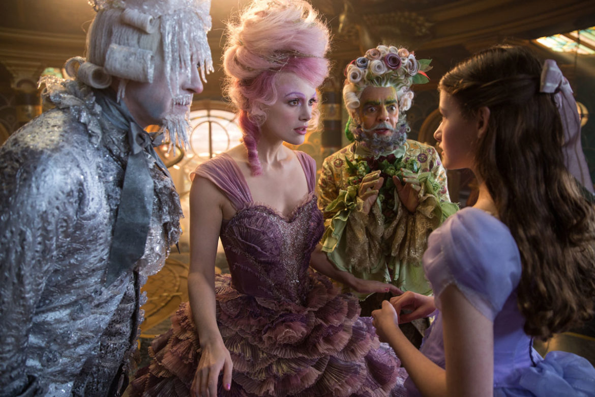 The Nutcracker and the Four Realms family movie review for adults and kids. Regents