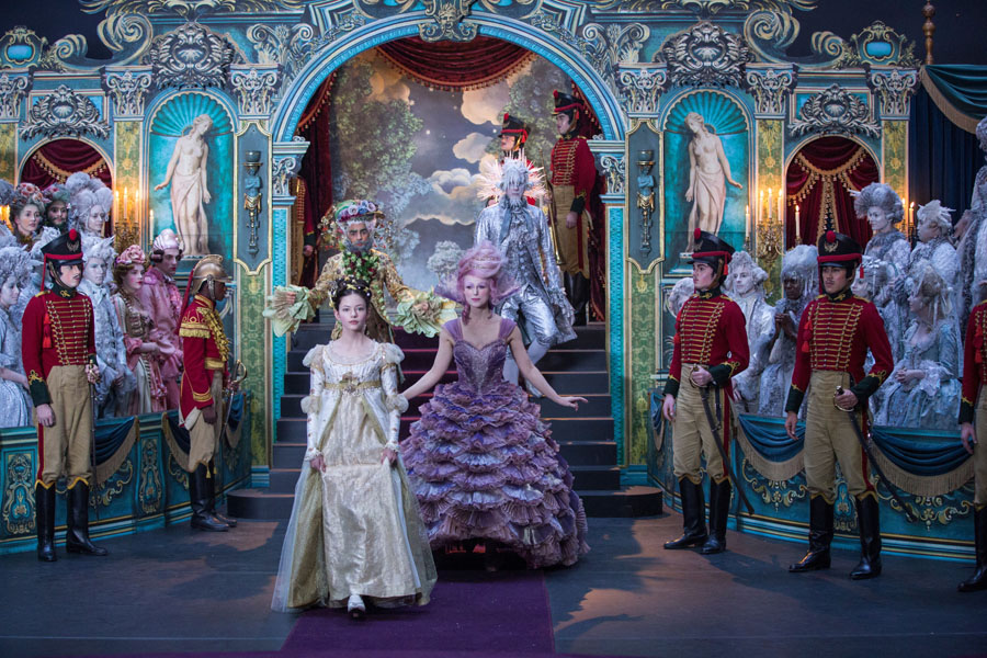 The Nutcracker and the Four Realms family movie review for adults and kids. Pageant