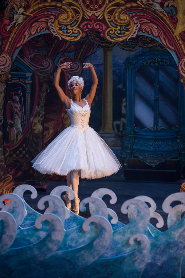 The Nutcracker and the Four Realms family movie review for adults and kids. Ballerina Misty copeland