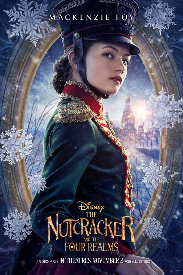 Exclusive interview with lead actor Mackenzie Foy as Clara in The Nutcracker and the Four Realms poster