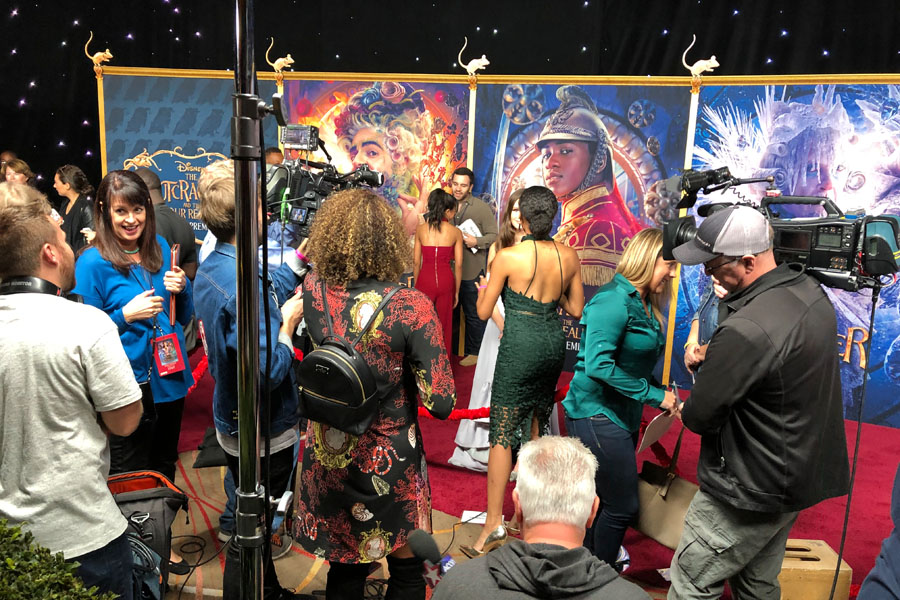 Attending Disney's Nutcracker and the Four Realms Red Carpet Premiere and pre-party in Los Angeles on October 29, 2018.