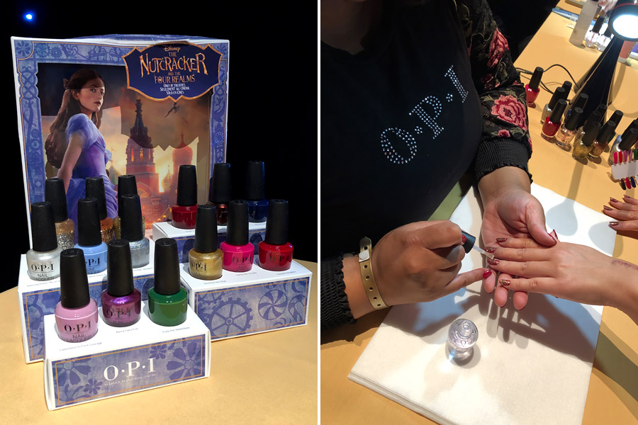 Attending Disney's Nutcracker and the Four Realms Red Carpet Premiere and pre-party in Los Angeles on October 29, 2018. OPI polish and manicure