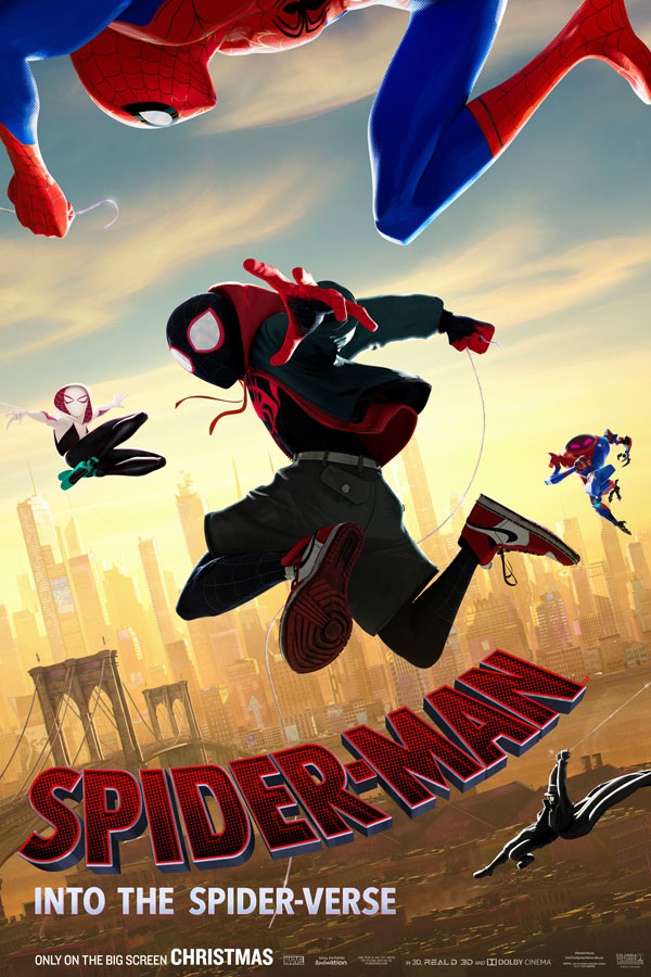 Sony Pictures and Marvel Spider-Man: Into the Spider-Verse movie review. Poster.