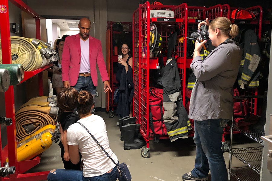 Station 19 set visit plus exclusive interview with Stacy McKee, Boris Kodjoe, and Jaina Lee Ortiz. Turnout storage