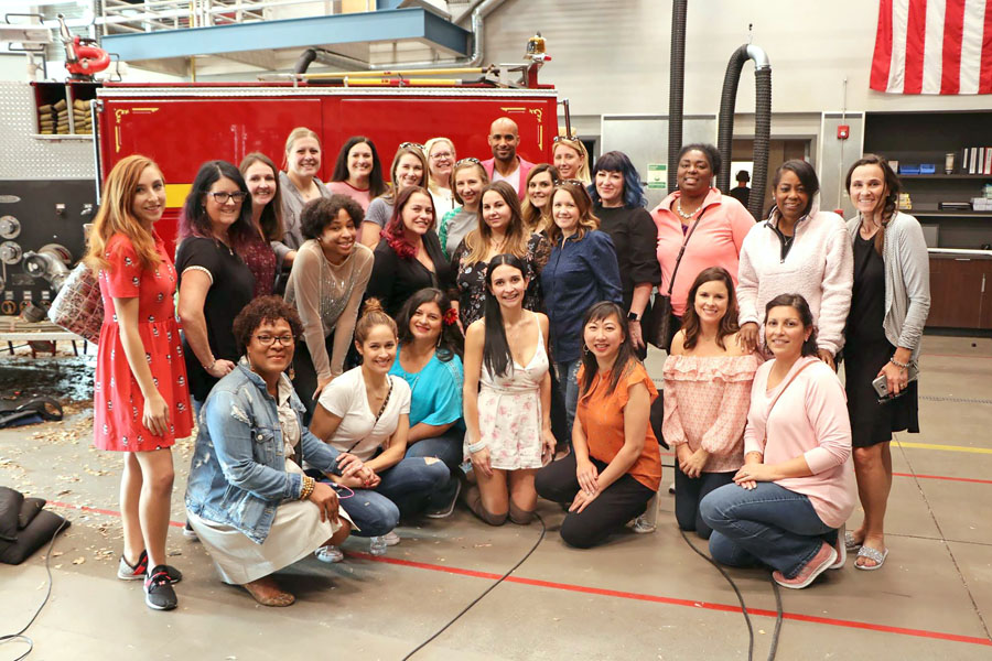 Station 19 set visit plus exclusive interview with Stacy McKee, Boris Kodjoe, and Jaina Lee Ortiz. Bloggers group photo