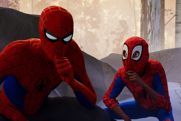Spider-Man: Into the Spider-Verse Interview with Shameik More, Jake Johnson, Luna Lauren Valez, Christina Steinberg, Phil Lord, and Chris Miller.