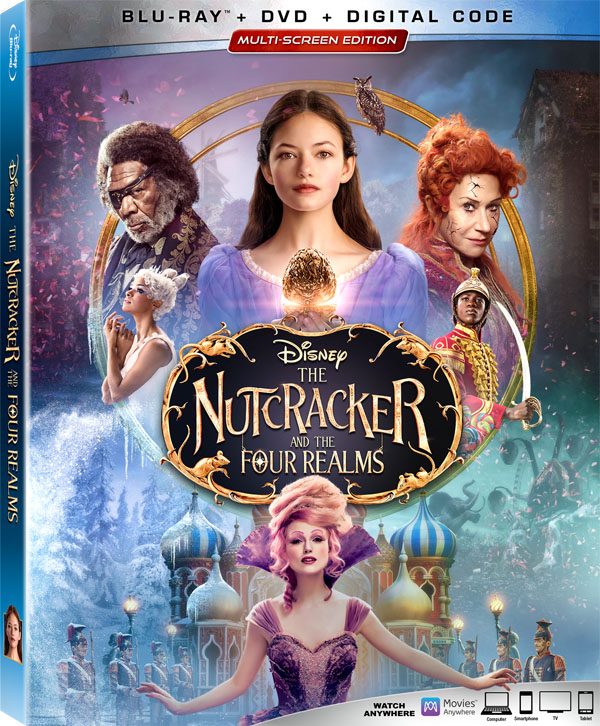 The Nutcracker and the Four Realms Blu Ray DVD 4K Digital HD Release